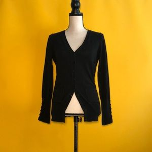 AMBITION long sleeve cardigan sweater w/two pocket